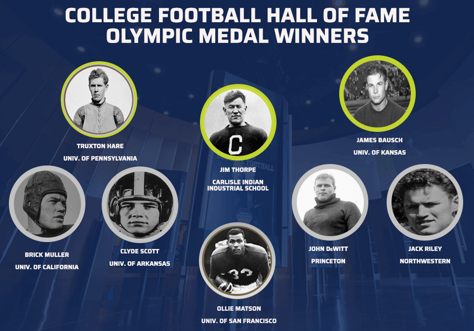College Football Hall of Famers Who Are Olympic Medalist