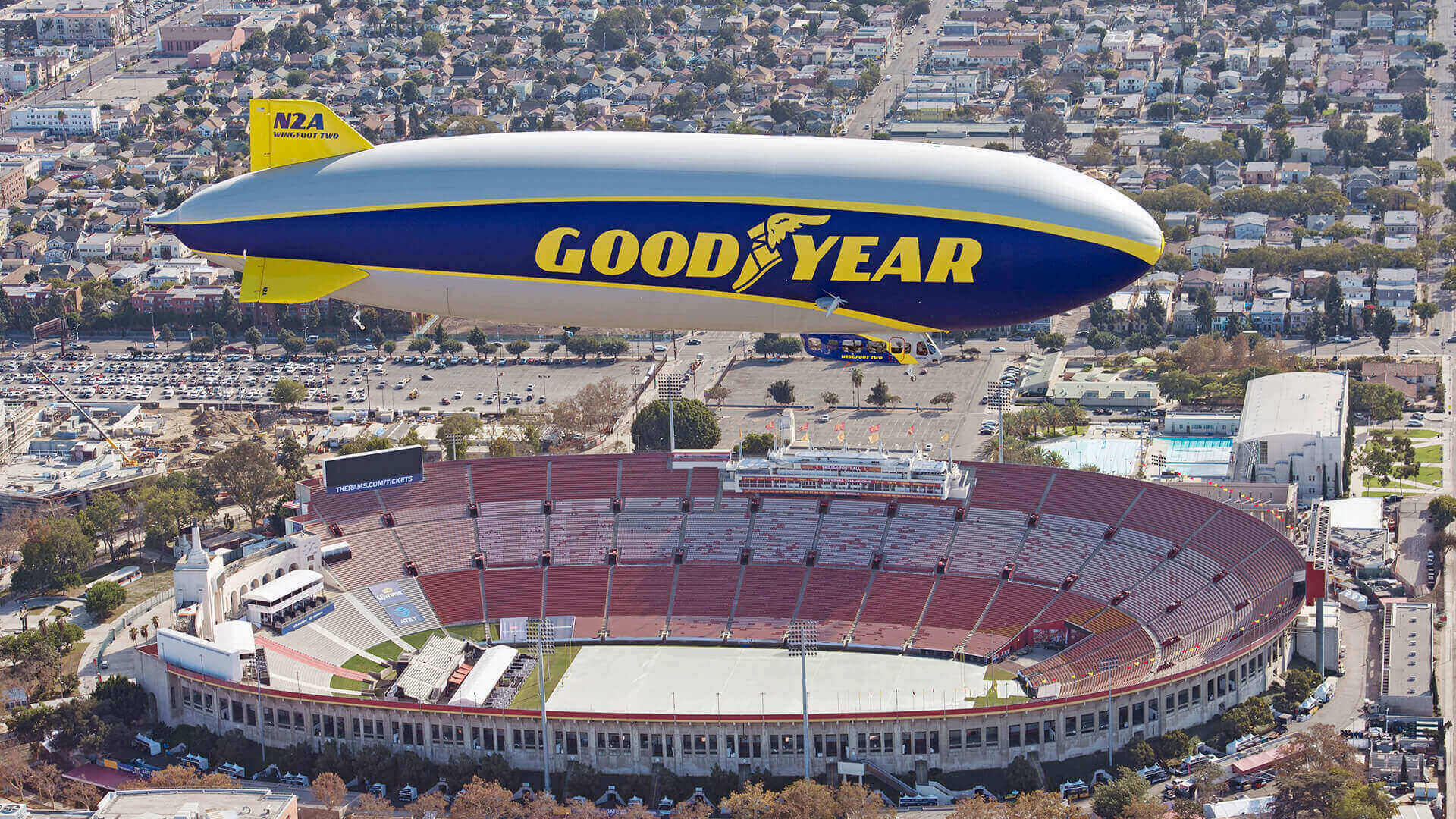 Goodyear Blimp becomes honorary member of the College Football Hall of Fame